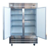 A.C.E. Commercial Reach-In Refrigerator Stainless-Steel Double Solid Door 47CuFt