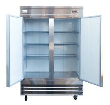 47-Inch Wide Alpha Chef Equipment Sandwich Prep Table//Salad Prep Table Double Door Refrigerated Cabinet,
