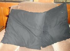 Pair (2) Black Pillows Square on Square Design Throw Toss Cushion Décor Floopy