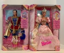 Rapunzel Barbie & Prince Ken 1997 Barbie extra long hair Both New in their Boxes