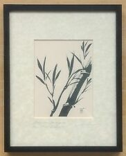"Vintage Katsumi Sugita Signed Print ""Bamboo Swaying In Breeze"" - Frame 8""x10"""