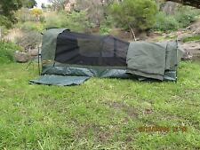 King Single Canvas Swag Camping Swags Canvas Tent Poles & Canvas Bag included