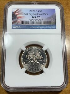 2020-S 25c Salt River Bay NP Quarter NGC MS67