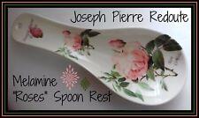 LESSER & PAVEY Redoute VINTAGE FLORAL ROSES Melamine Rose Spoon Rest Holder Gift