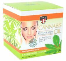 CANNABIS Face Cream 12% Cannabis Oil Crystal Jar 50ml NATURALS