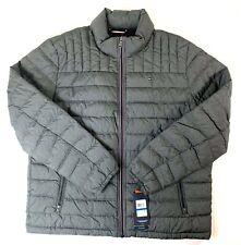 Tommy Hilfiger Men's Cement Gray Packable Puffer Down Jacket Retail $195 Sz XL