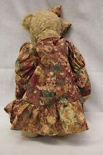 "Ashton Drake Galleries Teddy Bear 1999-2000, Brown & Jointed W/Dress & Bow, 17"""