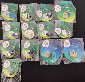 LOT OF PINS OLYMPIC GAMES PIN RIO 2016 OFFICIAL SPORTS 13 PINS LIMITED BRAZIL