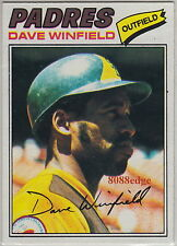 1977 TOPPS BASEBALL CARD #390: DAVE WINFIELD -SAN DIEGO PADRES HALL OF FAME NRMT