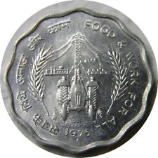 elf India 10 Paise 1976 (B) FAO Tractor Utility Pole