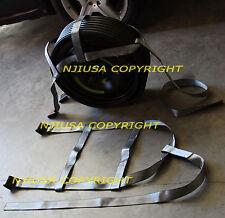 DEMCO Car Basket Straps Adjustable Tow Dolly Wheel Net Set Flat Hook Silver x2
