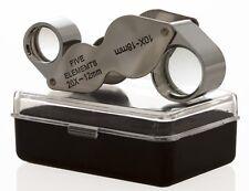 New 2pc Jewelers Eye Loupe Set 10X + Dual 10X-20X Magnifying Glass Ships Fr USA