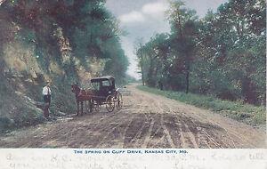 The Spring on Cliff Drive KANSAS CITY Missouri USA 1901-07 Postcard