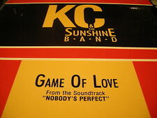 """KC & THE SUNSHINE BAND GAME OF LOVE (NOBODYS PERFECT) 12"""" 1988 CURB 77201 SHRINK"""