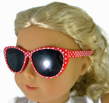 Red Polka Dot Sunglasses made for American Girl Doll Clothes Accessories