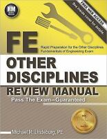 FE Other Disciplines Review Manual by PE, Michael R Lindeburg (2014, Paperback,