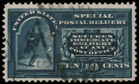 United States #E4 Used CV$110.00 1894 10C Blue Special Delivery