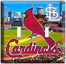 ST LOUIS CARDINALS MLB BASEBALL TEAM EMBLEM DOUBLE LIGHT SWITCH WALL PLATE COVER