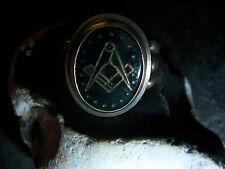 Freimaurer-Zirkel-Winkel- Blutjaspis –Ring-835er-Silber -Handarbeit -1920-30