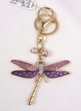 Dragonfly keychain Handbag Charm Gold pink purple Christopher Banks New