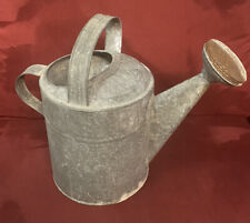 Antique / Vintage Rustic GALVANIZED WATERING CAN size # 10 w/ Sprinkler Head