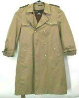 Stafford Men's 42 Long Solid Wool Blend Removable Lining Trench Coat Tan