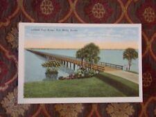 Vintage Postcard Tamiami Trail Bridge, Fort Myers, Florida