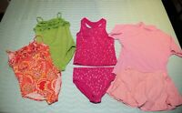 Girls Size 10 Bathing Suit Lot of 4, All Land's End Kids, One & Two Piece Styles