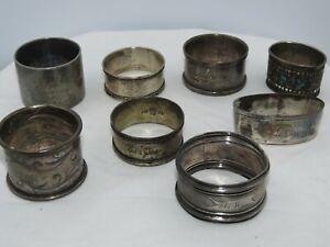 Antique Towle Sterling Silver Napkin Ring 144.2g Monogram B / Niel / Kerstin /