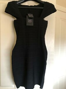 Herve Leger bodycon dress black, small, new with tags