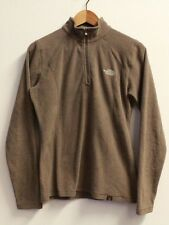 TNF The North Face Half Zip Light Fleece Jacket In Brown, Womens Size Small, VGC