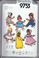 """Doll CLOTHING Pattern for LG 17"""" & 18"""" DOLLS VINTAGE UNCUT SEW YOUR GIFTS"""