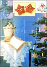 Crochet Pattern •  Christmas Tree Baubles/Star Decorations & Tablecloth Borders