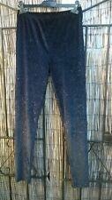 Black  velvet glitter leggings size 10 NEW