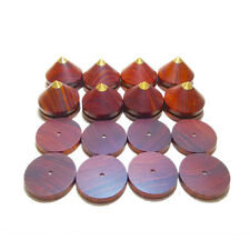 8 pcs Spikes + 8 pcs Pads - Rosewood Wooden Copper speaker CD Isolation stands