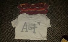 Lot of 2 Juniors short sleeve Shirts Size S by ambercrombie and Fitch