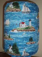 LIGHTHOUSE SAILBOAT ISLAND 5 GALLON WATER COOLER BOTTLE COVER KITCHEN DECORATION