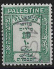 b016) Palestine. 1927. Used.  SG R102 10m Revenue Stamp. Multiple Script CA