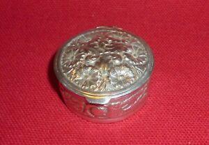 Solid Silver Pill Box, Birmingham Import Mark, C M E Jewellery Ltd, c. 1992
