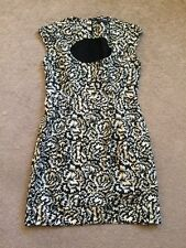 French Connection Floral Black/cream Dress Size 12