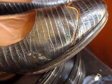 7.5 Aa True Vtg 50s Cobalt Blue Iguana Swing Pumps Shoes Hill & Dale Usa