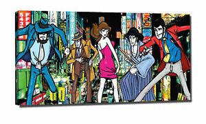 LUPIN JIGEN GOEMON MARGOT  tela quadro canvas 60cm x 30 cm   (bordo da 2 cm)