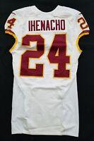 #24 Duke Ihenacho of Washington Redskins NFL Locker Room Game Issued Worn Jersey