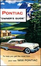 1956 Pontiac Manuale Proprietari OWNER'S GUIDE Libro Starchief Catalina