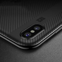 iPhone XS X Cover Case Noziroh Hybrid Carbon Design Antishock Frosted Shockproof