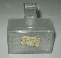 Vintage Christian Dior Miss Dior Crystal Glass Perfume Bottle 4 OZ Open/Empty