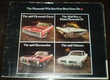 1968 PLYMOUTH DEALER BROCHURE, CARS, PROFUSELY ILLUSTRATED THROUGHOUT