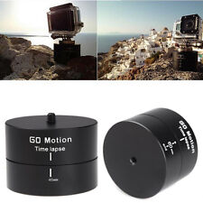 Spin 360° Delay Stabilizer Panning Tripod Rotating Time Lapse DSLR Gopro Camera