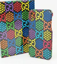 Authentic GUCCI Psychedelic GG PVC Canvas iPhone X Cover #39845