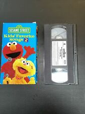 Sesame Street Kids Favorate Song 2 VHS VCR Tape Movie Used
